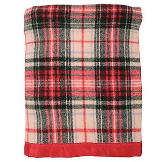 Wool Plaid Blanket For Sale