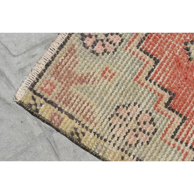 """Hollywood Regency Hand Knotted Door Mat, Entryway Rug, Bath Mat, Kitchen Decor, Small Rug, Turkish Rug - 1'7"""" X 3'2"""" For Sale - Image 3 of 5"""