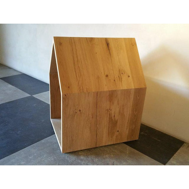 Contemporary Ozshop Natural or Ebonized Reclaimed French Oak Dog Houses For Sale - Image 3 of 5