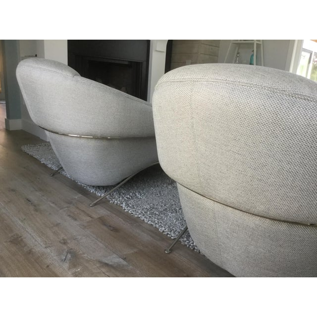 Modern Milo Baughman for Thayer Coggin Boldido Chairs and Ottomans- a Pair For Sale In Portland, OR - Image 6 of 11