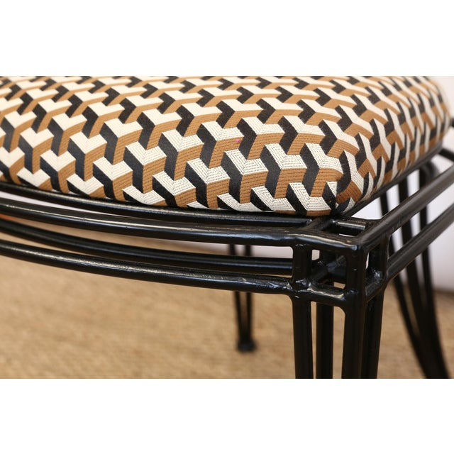 Upholstered Oval Back Chairs - a Pair For Sale In Houston - Image 6 of 8