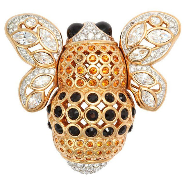 Black Large French Bumble Bee Brooch For Sale - Image 8 of 8