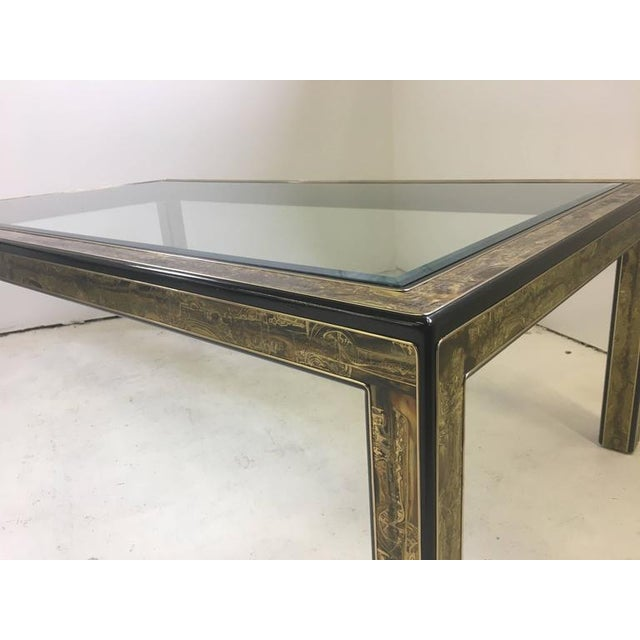 Brass Mastercraft Dining Table by Bernhard Rohne For Sale - Image 7 of 7