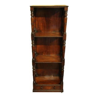 English Mahogany Side Table/Bookcase For Sale