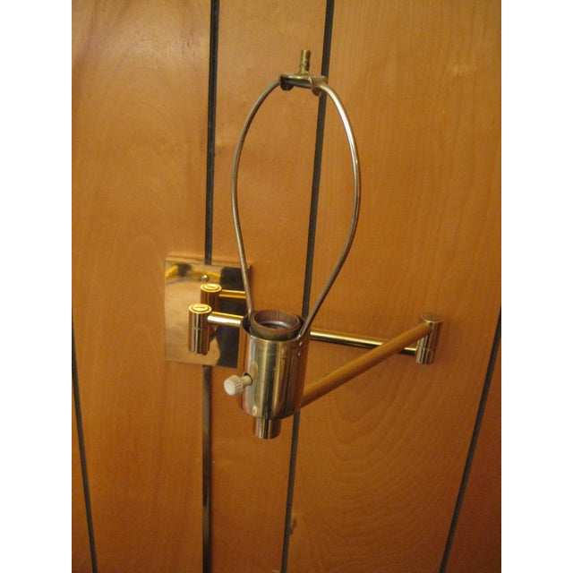 Brass Hansen Lamp Metalarte Double Swing Arm Brass Sconces - a Pair For Sale - Image 8 of 13