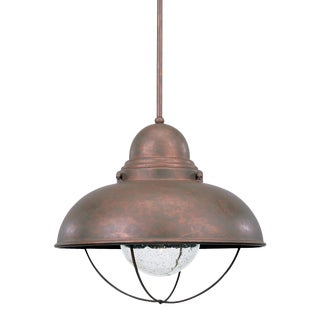 Sylvia One Light Outdoor Pendant, Copper For Sale