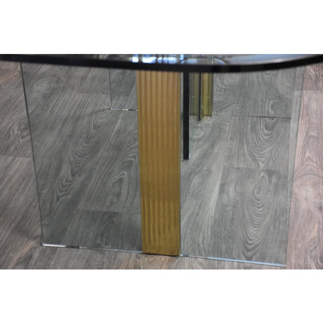 Pace Collection Pace Collection Glass and Brass Modern Dining Table For Sale - Image 4 of 9