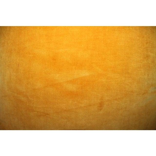 Pair of Sunrise Orange Velvet Pillows For Sale - Image 4 of 7