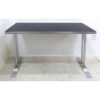 Art Deco Streamline Chrome Writing Table or Console Table Preview