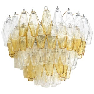 Five Layer Polyhedral Chandelier by Carlo Scarpa For Sale