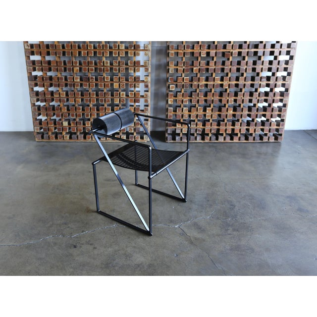 """1982 """"Seconda 602"""" Armchairs by Architect Mario Botta for Alias - Set of 6 For Sale - Image 11 of 13"""