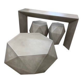 Modern Geometric Design Concrete Coffee Table For Sale