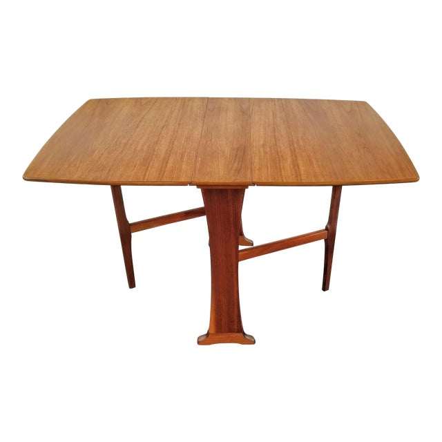Mid-Century Scottish Modern Style Drop Leaf Table by Legate Scotland For Sale