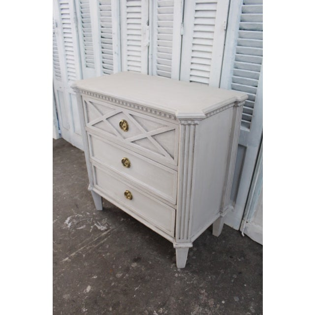 20th Century Swedish Gustavian Style Nightstands - A Pair For Sale - Image 4 of 11