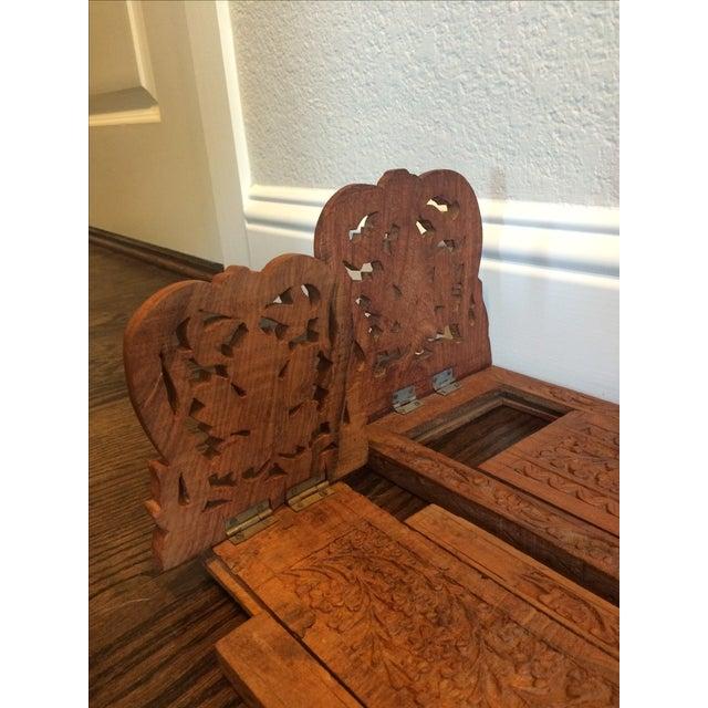 Folding Teak Bookstands - Pair - Image 4 of 7