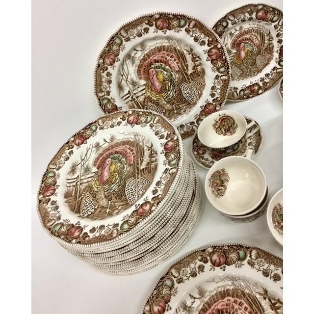 Art Nouveau Johnson Bros His Majesty Turkey Dinnerware - Set of 71 For Sale - Image 3 of 13