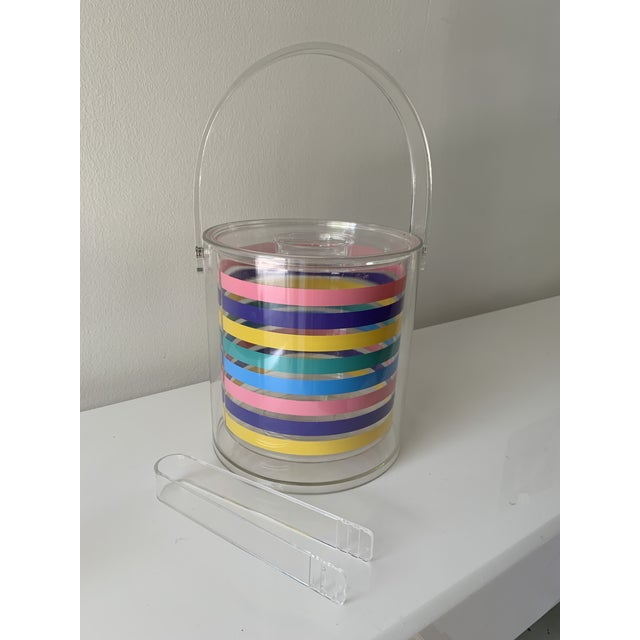 Modern 1980s Striped Ice Bucket For Sale - Image 3 of 11