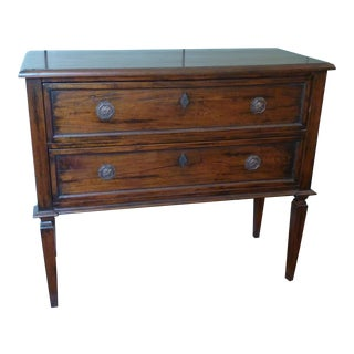 Directoire Style Walnut Two Drawer Chest For Sale