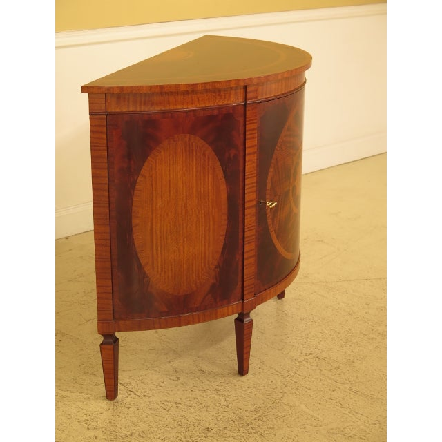 Brown 1990s Baker Historic Charleston 1/2 Round Mahogany Commode Server For Sale - Image 8 of 13