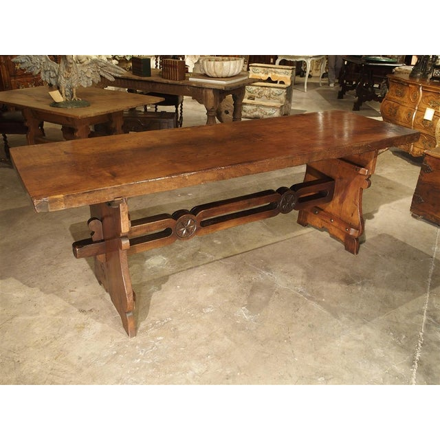 Antique Walnut Refectory Table From Tuscan Mountain Region C. 18th Century For Sale - Image 13 of 13