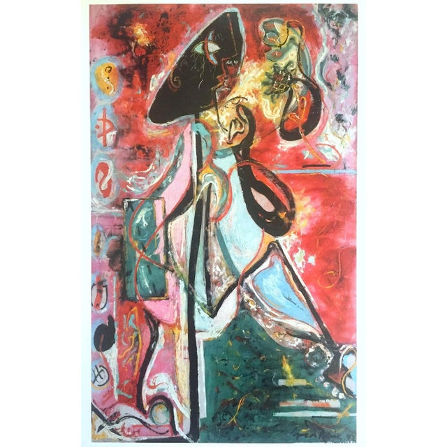 "Jackson Pollock Foundation Abstract Expressionist Collector's Lithograph Print "" the Moon - Woman "" 1942 For Sale - Image 13 of 13"