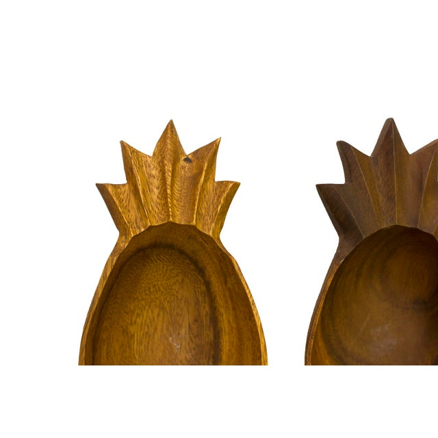 Mid-Century Carved Pineapple Dishes - Set of 3 - Image 2 of 3