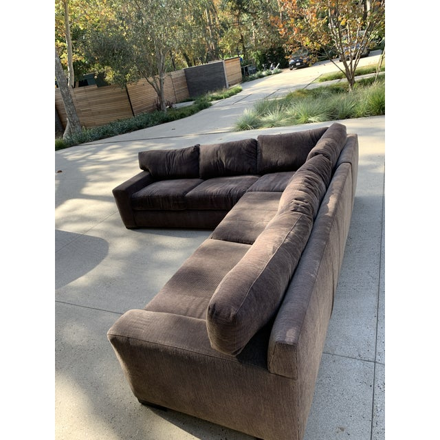 Contemporary Designer Deep Down Blend Sectional Sofa For Sale - Image 3 of 12