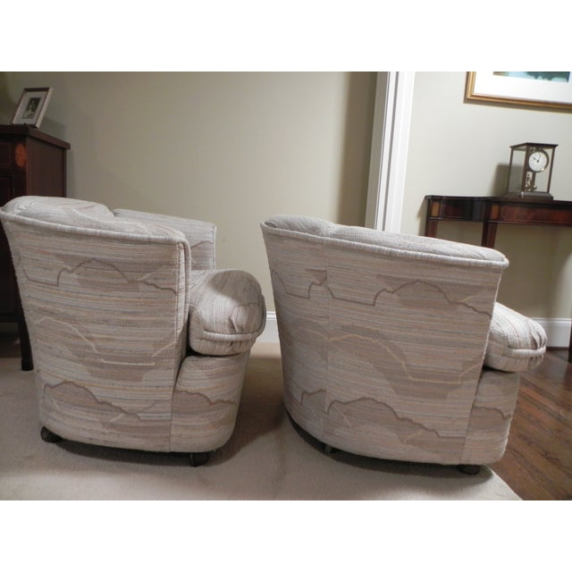 Drexel Contemporary Classics Barrel Chairs - Pair For Sale - Image 4 of 6