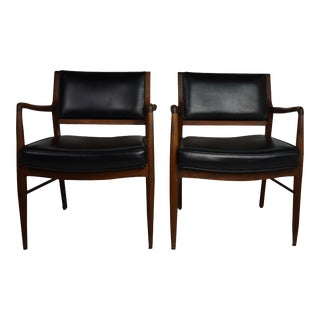 Mid-Century Arm Chairs S/2 For Sale