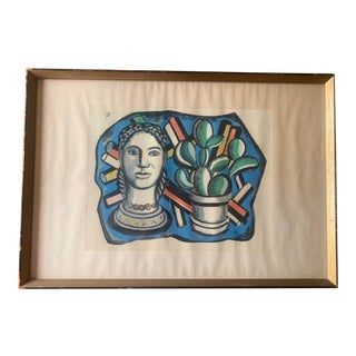 Original Vintage Mid Century Modern Ferdinand Leger Colored Lithograph Print Numbered 259/1000 For Sale