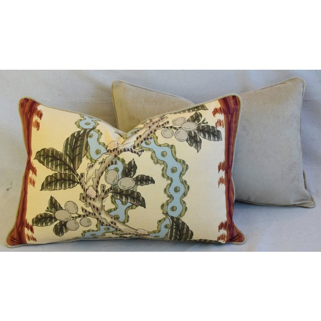"Brunschwig & Fils Josselin Feather/Down Pillows 26"" X 17"" - Pair For Sale - Image 10 of 13"