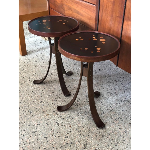 Black Pair of Dunbar Constellation Tables For Sale - Image 8 of 8