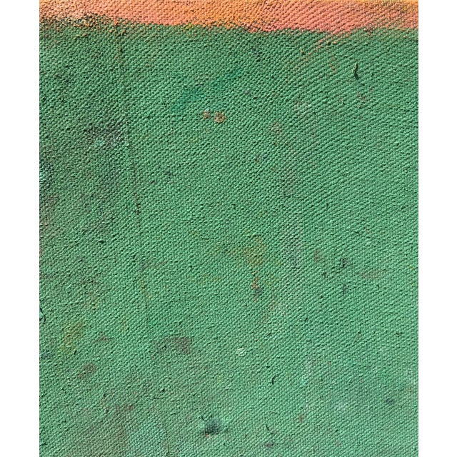 A vast, deep work by Sean Kratzert. Dominated by a rich green hue, the marks below the surface seem to rise and move...