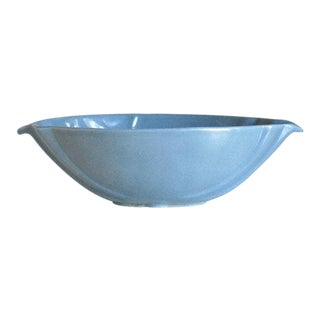 Mid Century Modern Frankoma Pottery Blue Bowl 201 For Sale