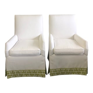 Early 21st Century Lee Industries Occasional Chairs- A Pair For Sale