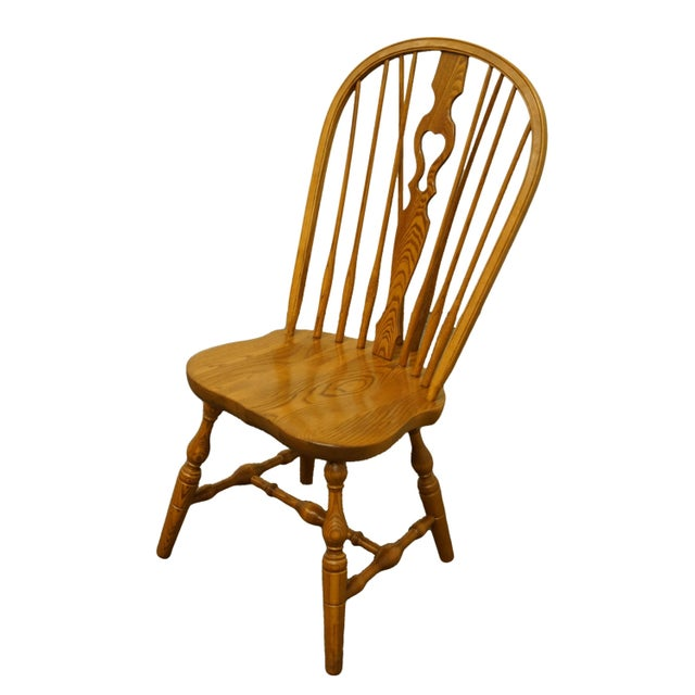 """S. Bent Bros. Grand Rapids Solid Oak Country Style Dining Side Chair 40"""" High 19.75"""" Wide 23"""" Deep Seat: 18"""" High We..."""