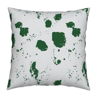 Splat Olive Pillow by Kerri Rosenthal