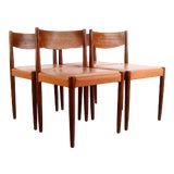 Image of Set of 4 Poul Volther for Frem Rojle Danish Modern Dining Chairs For Sale