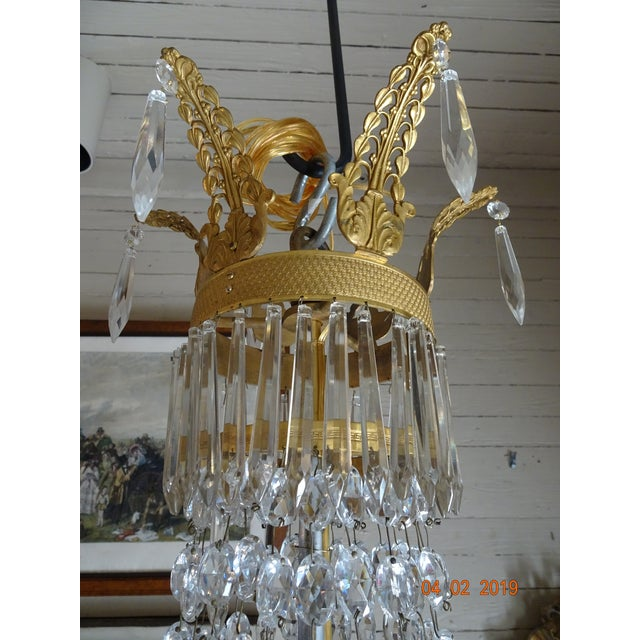 19th Century French Empire Crystal Chandelier For Sale In New Orleans - Image 6 of 13