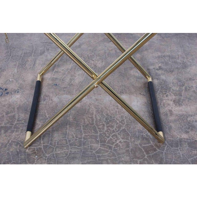 1970s Italian Folding Tray Table in Brass For Sale - Image 5 of 9