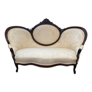 Late 20th Century Restored Victorian Sofa Settee For Sale