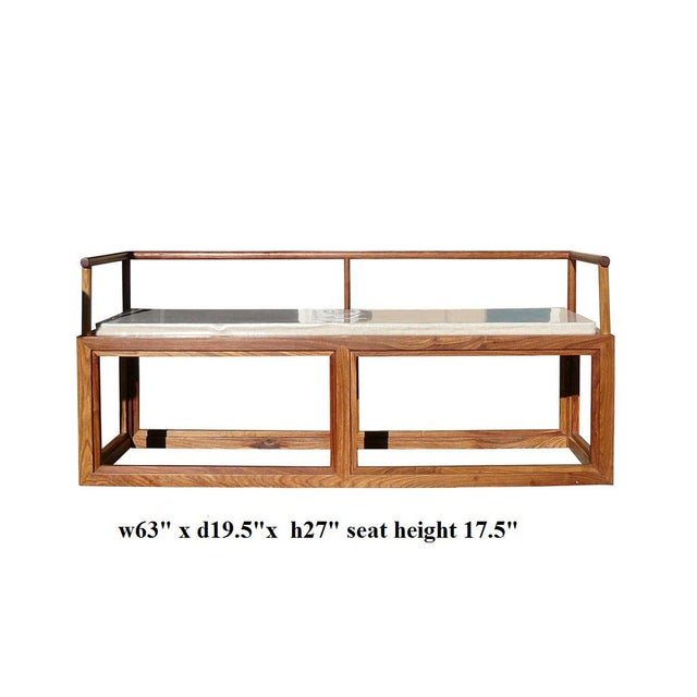 Rosewood Chinese Simple Zen Design Daybed Bench Chair For Sale - Image 4 of 5