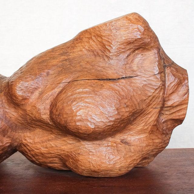 Mid-Century Modern Carved Nude Torso Sculpture - Image 5 of 10