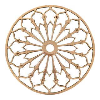 1970s Brass Footed Trivet For Sale