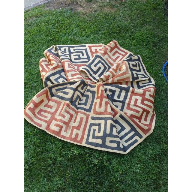 Handmade African Kuba Cloth Fabric - Image 2 of 3
