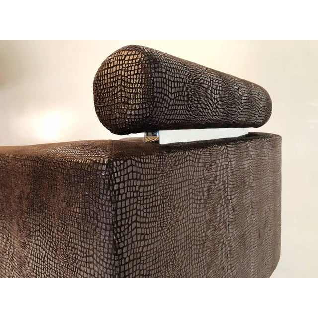 """Silver Luigi Gentile """"Gigi"""" Swivel Lounge Chair for Couture For Sale - Image 8 of 10"""