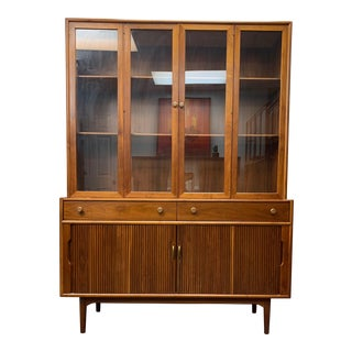 1960s Mid Century Modern Drexel Declaration Tambour Door Cabinet For Sale