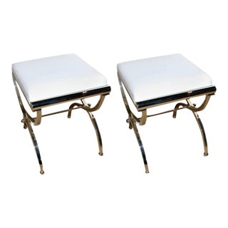 "Charles Hollis Jones Original ""Empire"" Style Benches- A Pair For Sale"