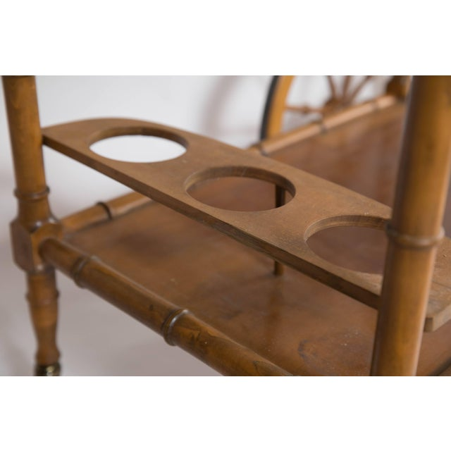 Faux Bamboo Bar Cart For Sale In Houston - Image 6 of 8