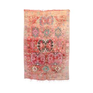 """Boujad Vintage Moroccan Rug, 6'6"""" x 9'4"""" feet"""